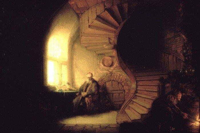 Rembrandt - Meditalo filozofus